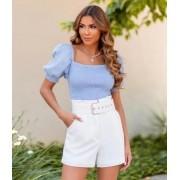 Shorts Julia Viscolhinho Com Cinto