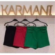 Shorts Karmani Alfaiataria 5% Elastano Detalhe Martingale