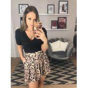Shorts Lavinia Onça Satin