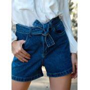 Shorts Silvia Unique Jeans Detalhe Cinto