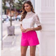 Shorts Tatiane Alfaiataria Crepe + Cinto