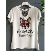 T-SHIRT BULLDOG VISCOLYCRA