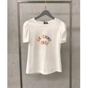 T-shirt La Chocole Com Manga Princesa