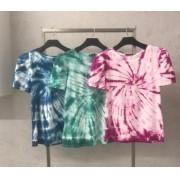 T-shirt  La Chocole Malha Tie dye  Manga  Princesa