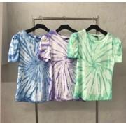 T-Shirt  La Chocole  Tie Dye Manga Princesa