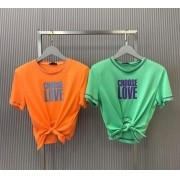 T-shirt  La Chocole  Amarração Ponto contrastante