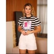 T-Shirt Melina  Malha Canelada