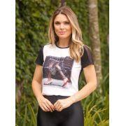 T-Shirt Nuxx Crepe Viscolycra Estampa Glamorous