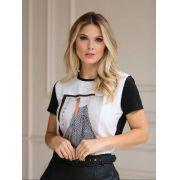 T-Shirt Nuxx Viscolycra Crepe Estampa Favorite