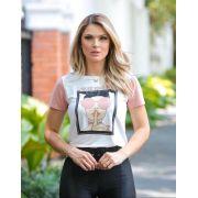 T-Shirt  Nuxx Viscolycra  Estampa Garota de òculos