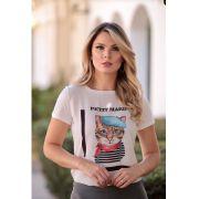 T-Shirt  Petit Viscolycra  Estampa petit  Marin