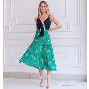 Vestido Adriana Viscocrepe Bicolor