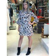 Vestido Alice Crepe Animal print 4%Elastano