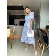 Vestido Amanda Estampa Vichy 97% algodão 3% Elastano