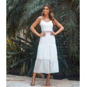 Vestido Camila Tule de Bolinha em Camadas