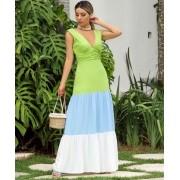 Vestido Cheroy Viscose Color Block