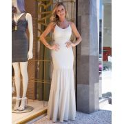 Vestido Dallas Longo Lurex