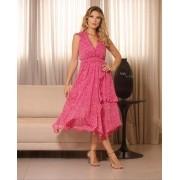 Vestido Esmeral Chiffon Floral
