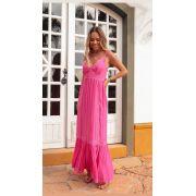 Vestido Esmeral   Viscose Detalhe em Renda