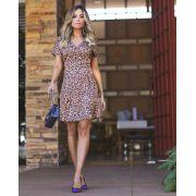 Vestido Fernanda  Crepe Animal Print