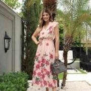 Vestido Ariane Crepe Floral