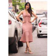 Vestido Gabriela  Midi  Lurex 5% elastano