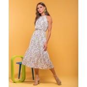 Vestido Georgia Crepe Floral Cava Raglan  + Cinto