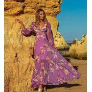Vestido  La Chocole Crepe Floral