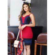 Vestido Lais Crepe Tricolor 3% Elastano (Forro)