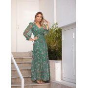 Vestido Leticia Tule Floral  4,5 % Elastano
