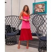 Vestido Livia Linen Tricolor