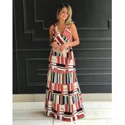 Vestido Lorena Viscose Longo