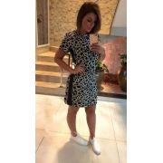 Vestido Luciana Crepe Print P&B  (Forro)