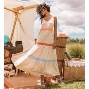 Vestido Manuela Viscose Multicolor 3% Elastano