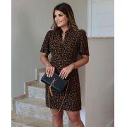 Vestido Mariane Crepe Print Forro