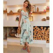 Vestido Melina Crepe Floral + Cinto