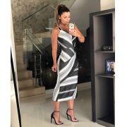 Vestido Miriam Midi Striper Malha & Tricot  (forro)