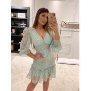 Vestido  Morina  Chiffon  Floral  MG Longa  C/ Lastex