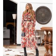 Vestido Morina Chiffon Floral Zimerman