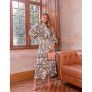 Vestido Morina Crepe Estampa Floral