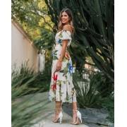 Vestido Morina Crepe Floral