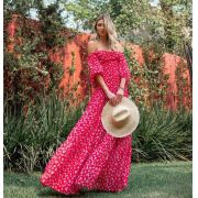 Vestido Morina Crepe  Floral Liberty Longo