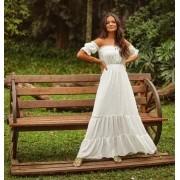 Vestido Morina Longo Jacquard  Poa