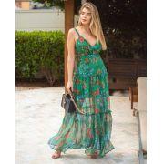 Vestido Morina Organza Estampa  Floral