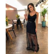 Vestido Morina Tule + Cinto