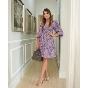 Vestido Ariane Crepe  Print Cashmere