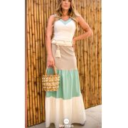 Vestido Nuxx Linho Colors (Não Acompanha Cinto)