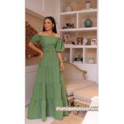 Vestido Pandora Longo Fivela Bambu +Cinto