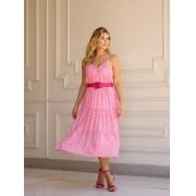 Vestido Rebeca Crepe Alça