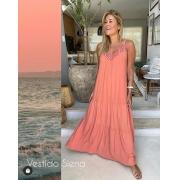Vestido Siena Tecido Viscolinho  01% Elastano Com Faixa (Forro)